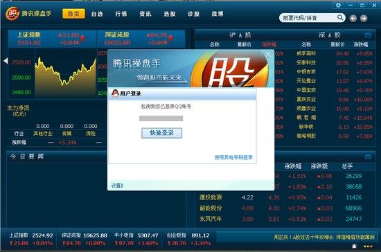 QQ号快速登录腾讯操盘手-暂不进军金融业 腾讯否认成立证券软件事业...